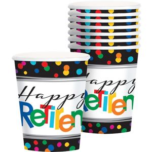 Happy Retirement Celebration Cups 8ct