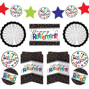 Happy Retirement Celebration Room Decorating Kit 10pc