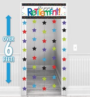 Happy Retirement Celebration Door Curtain