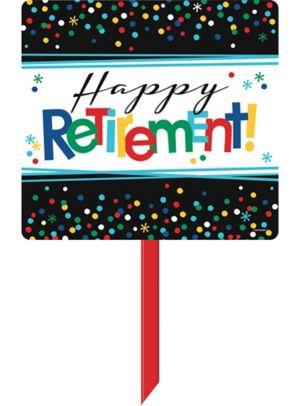 Happy Retirement Celebration Yard Sign