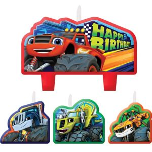 Blaze and the Monster Machines Birthday Candles 4ct