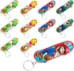 Super Mario Skateboard Keychains 48ct