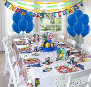 Nintendo Super Mario Party Supplies Super Party Kit for 8 Guests
