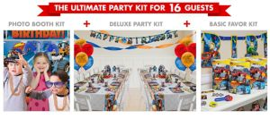 Blaze Party Supplies Ultimate Party Kit for 16 Guests