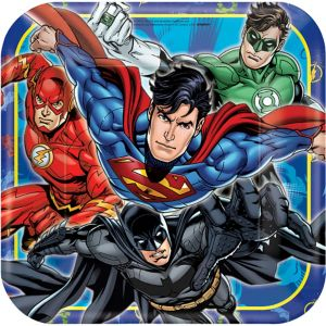 Justice League Lunch Plates 8ct