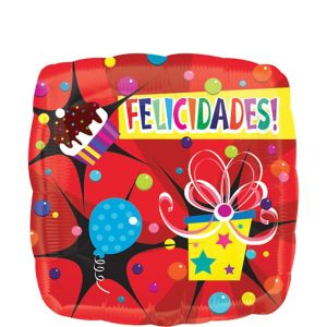 Felicidades Balloon - Bright Bubbly