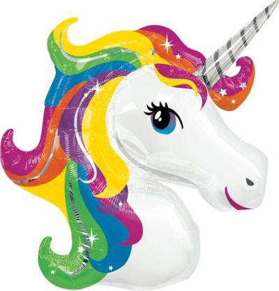 Rainbow Unicorn Balloon 33in X 29in