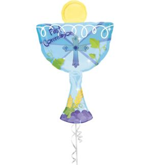 Boy's First Communion Balloon - Giant Chalice