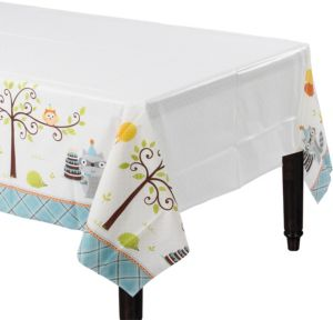 Boy Birthday Table Cover - Happi Woodland
