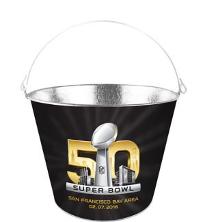 Super Bowl 50 Galvanized Bucket