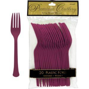 Berry Premium Plastic Forks 20ct