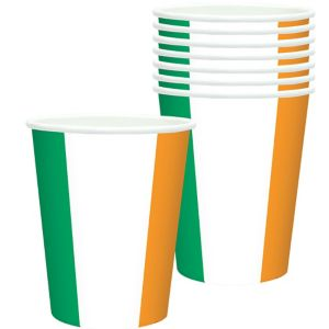 Green, White & Orange Cups 8ct