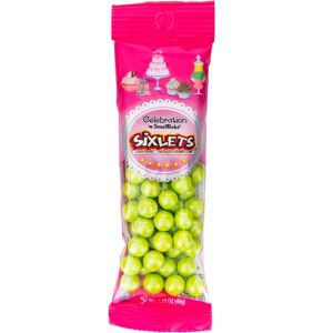 Lime Green Shimmer Sixlets 56pc