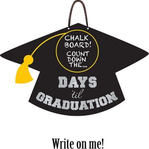 Graduation Countdown Chalkboard Sign