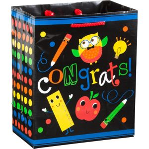 Schoolhouse Chalkboard Graduation Gift Bag