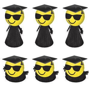Graduation Smiley Pop-Ups 4ct