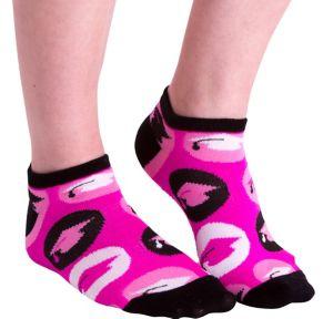 Pink Graduation Cap Ankle Socks