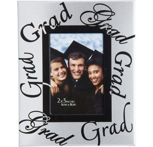 Mini Silver Graduation Photo Frame