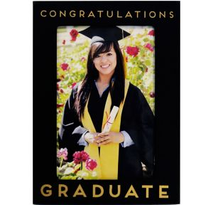 Black Congratulations Graduate Photo Frame