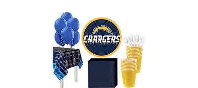 San Diego Chargers Super Party Kit for 18 Guests