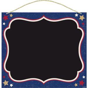 Patriotic Chalkboard Sign - Rustic Americana