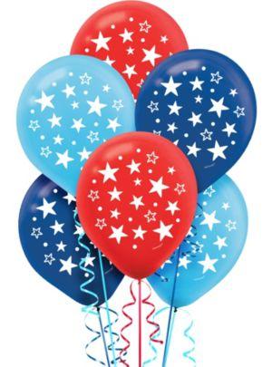 Patriotic Stars Balloons 15ct
