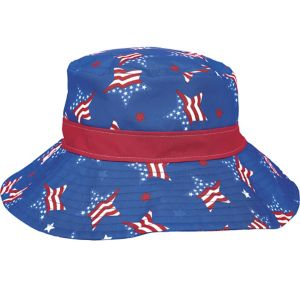 Patriotic American Flag Stars Bucket Hat