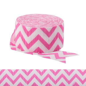 Bright Pink Chevron Streamer