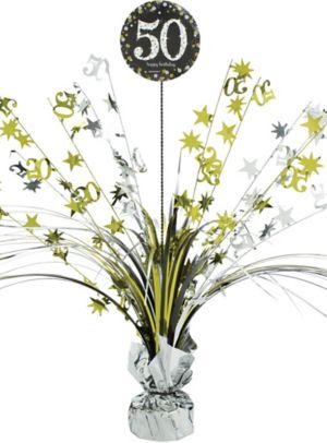 50th Birthday Spray Centerpiece - Sparkling Celebration