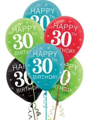 Celebrate 30th Birthday Balloons 15ct