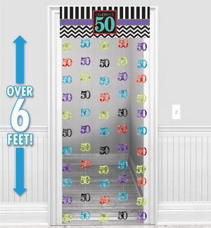 Celebrate 50th Birthday Doorway Curtain
