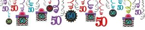 Celebrate 50th Birthday Swirl Decorations 30ct