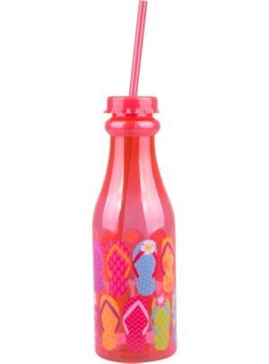 Pink Flip Flop Plastic Soda Bottle