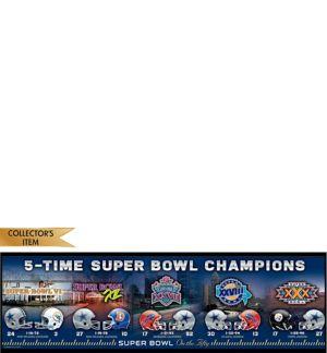 Dallas Cowboys 5X Super Bowl Champions Sign