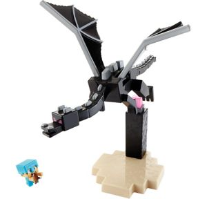 Ender Dragon vs. Steve Playset 4pc - Minecraft