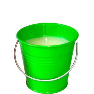 Kiwi Green Citronella Candle Pail