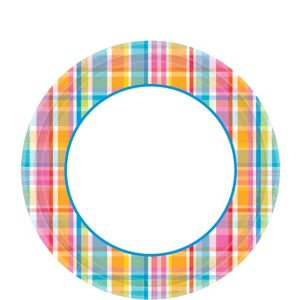 Sunny Plaid Lunch Plates 40ct