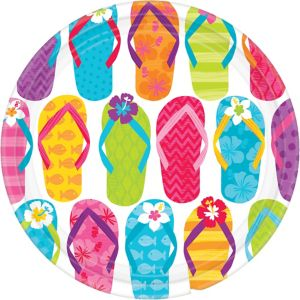 Bright Flip Flop Lunch Plates 60ct