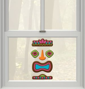 Tiki Gel Cling Decals 6ct