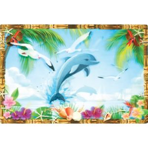Tropical Scene Lenticular Cutout
