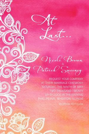 Custom Ombre Floral Warm Invitation