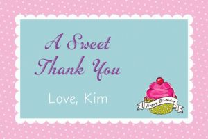 Custom Birthday Sweets Thank You Note