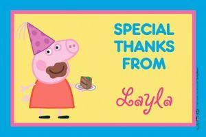 Custom Peppa Pig Thank You Note