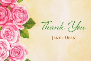 Custom Bundled Roses Thank You Note