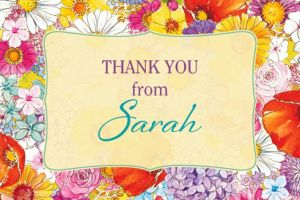 Custom Spring Garden Border Thank You Note