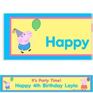 Custom Peppa Pig Banner