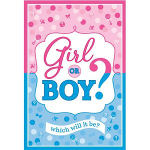 Girl or Boy Gender Reveal Invitations 8ct