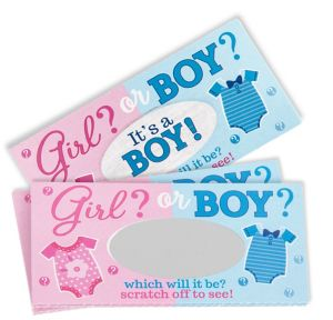 Boy Scratch-Off Cards 12ct - Girl or Boy Gender Reveal