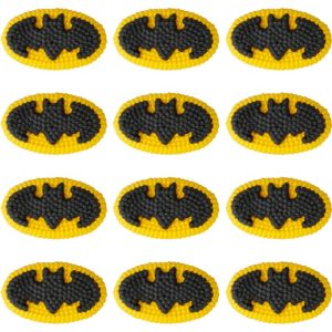 Wilton Batman Icing Decorations 12ct