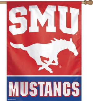 SMU Mustangs Banner Flag